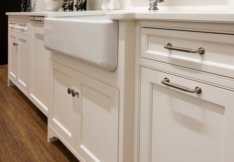 A close view of some Crown Select base cabinetry