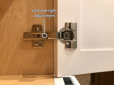 Blum hinge adjustment - Left and right adjustment