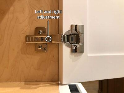 Blum hinge adjustment - Left and right adjustment