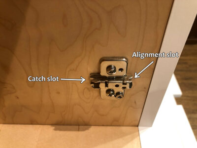 Blum hinge adjustment - Mounting base