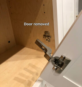 Blum hinge adjustment - Door removed